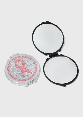 Breast Cancer Pink Ribbon Mirror