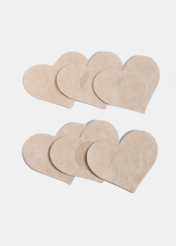 6-Piece Heart Pastie Covers