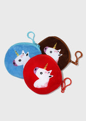 Soft Unicorn Coin Pouch