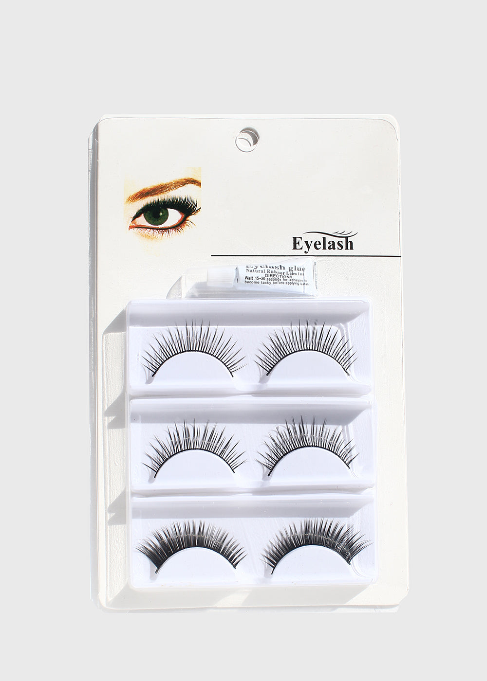 3 Pair Fake Eyelash Kit- 202