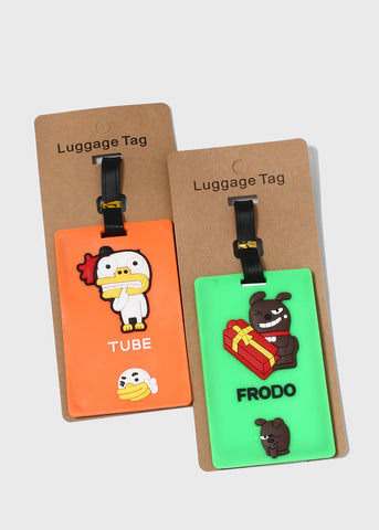 Cute Character Friends Luggage Tags