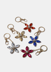 Gemstone Flower Key Chain