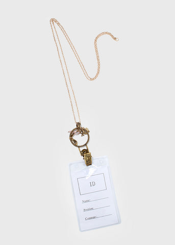 Breast Cancer Charm ID Holder