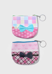 Multi Print Bow Coin Purse
