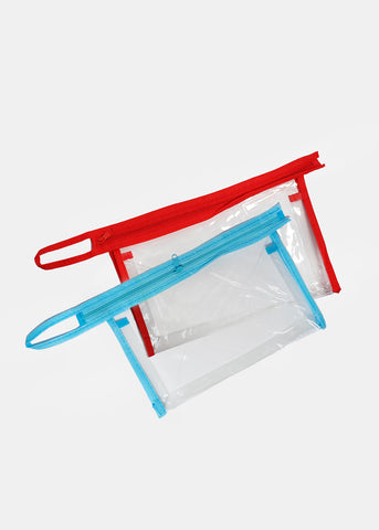 Clear Vinyl Cosmetic Pouch