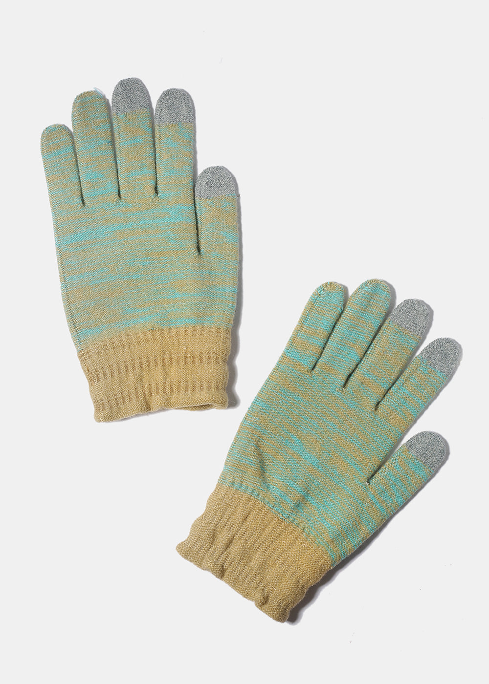 Mint/Beige Touchscreen Gloves