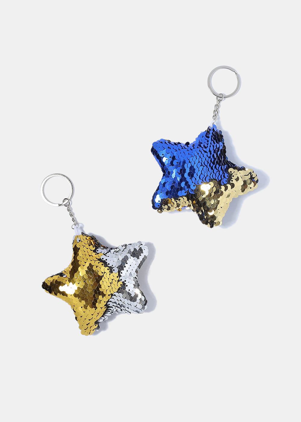 Plush Sequin Star Keychain