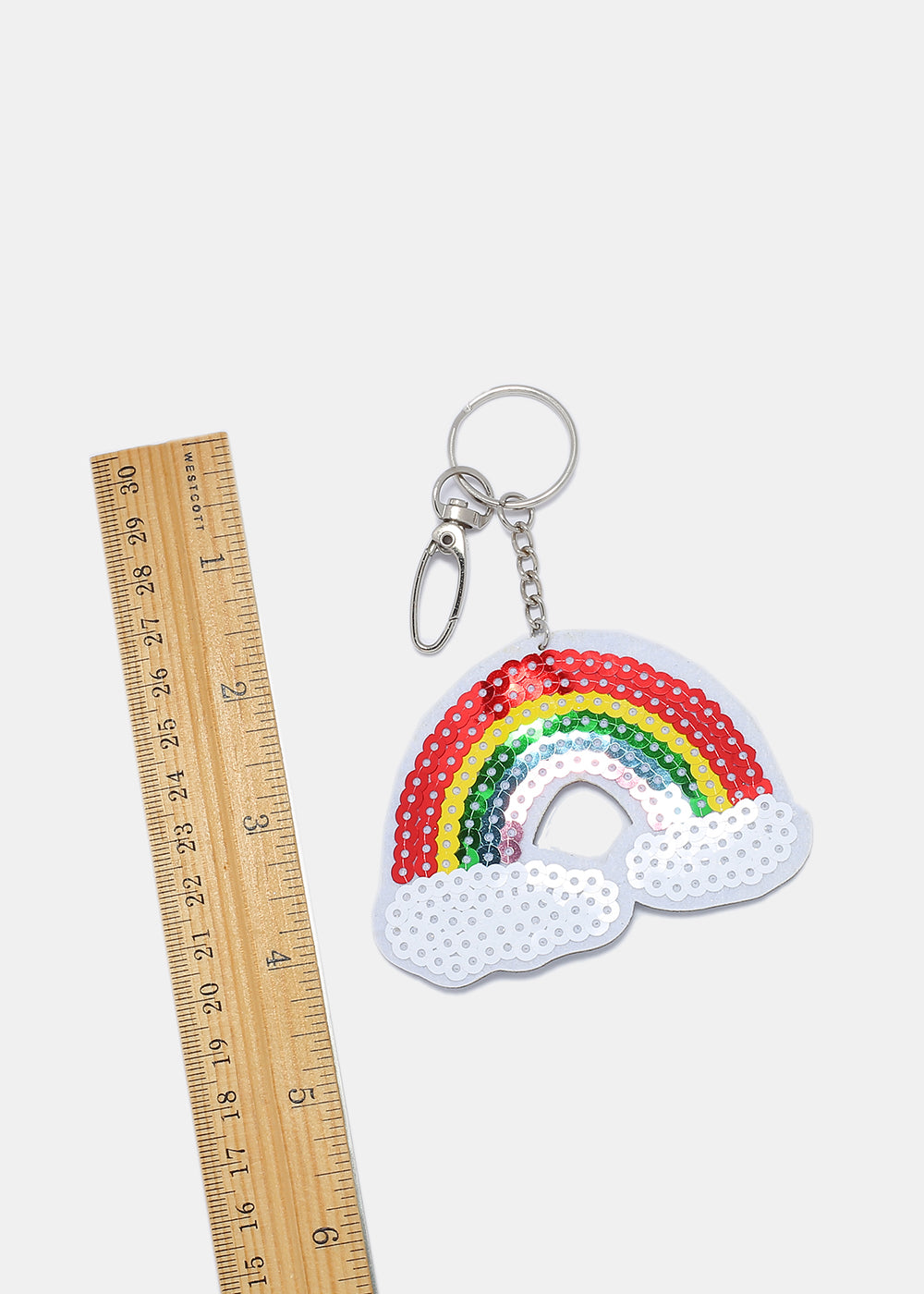 Sequin Rainbow Keychain