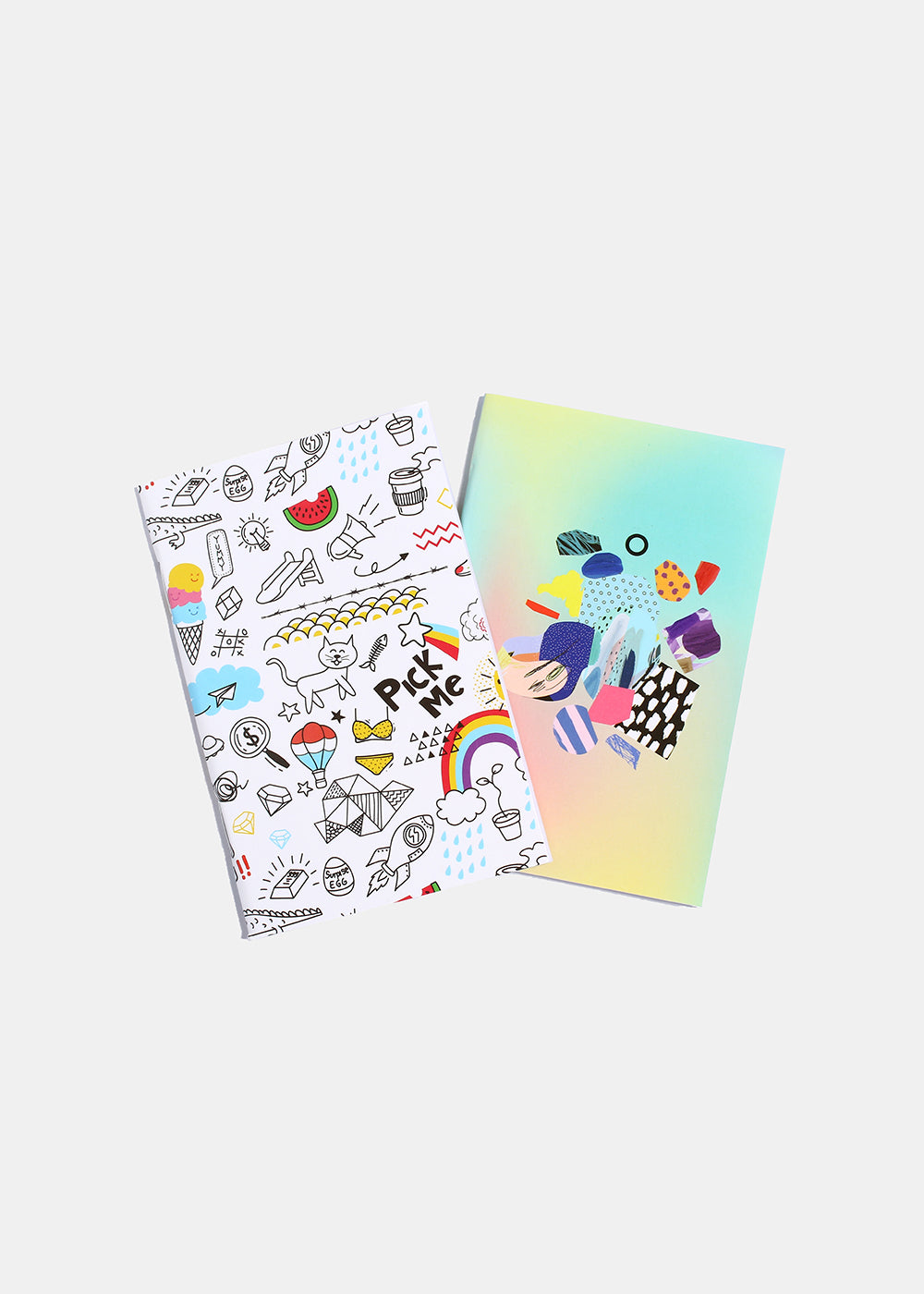 "2 Piece ""Pick Me"" Rainbow Print Notebooks"