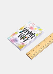 "2 Piece ""Hey You"" & ""Summer Vibes"" Print Notebooks"