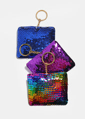 Square Sequin Keychain