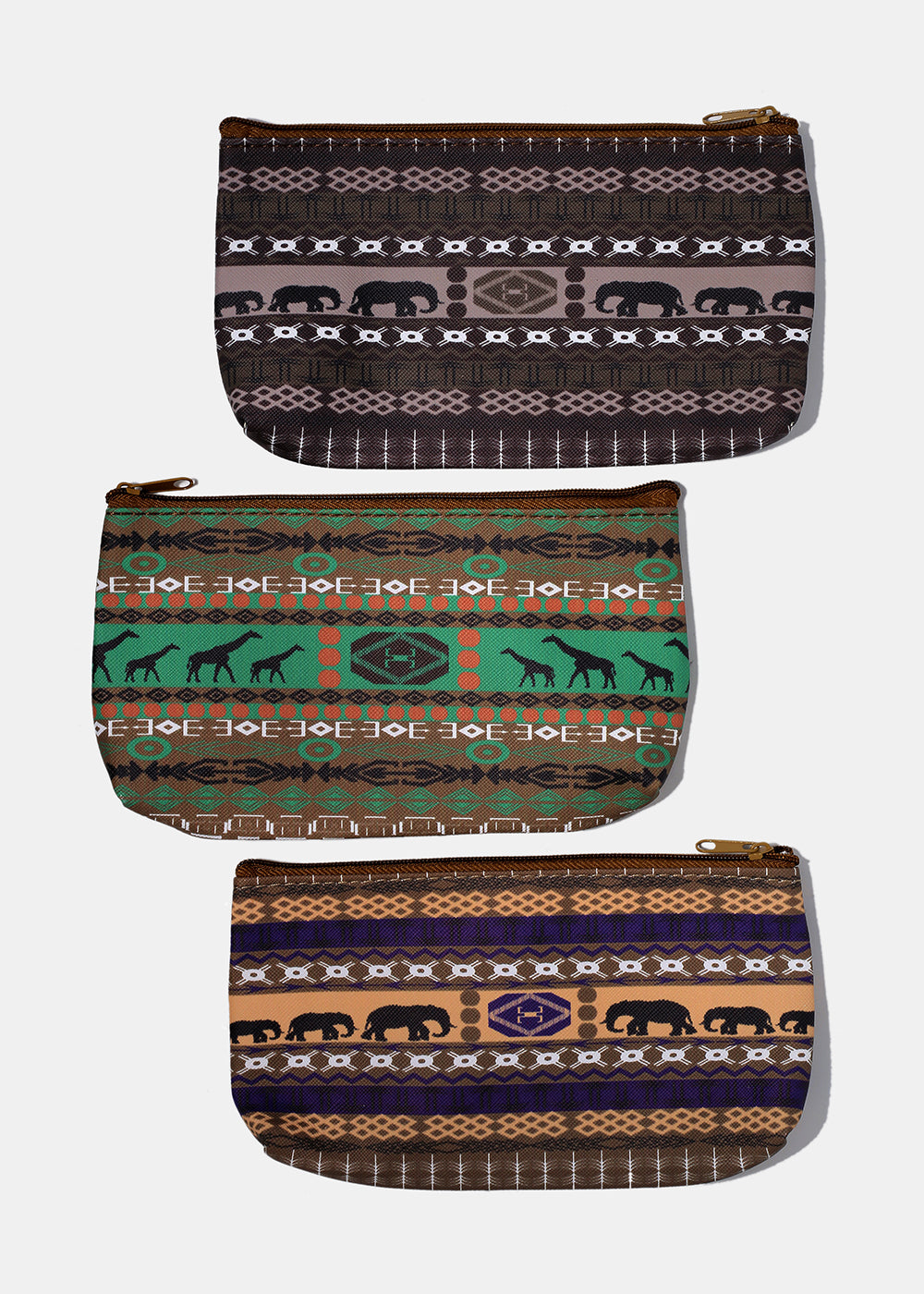 Tribal Print Zip Pouch