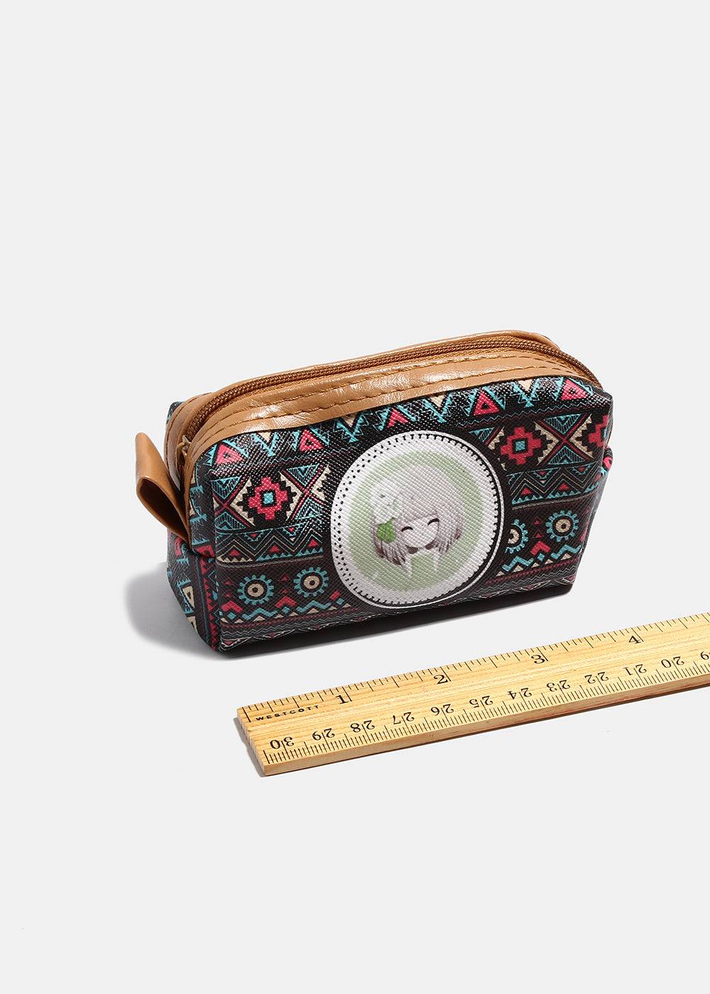 Dolled-Up Girl Tribal Print Coin Purse