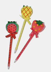 Plush Fruit Polka Dot Pen