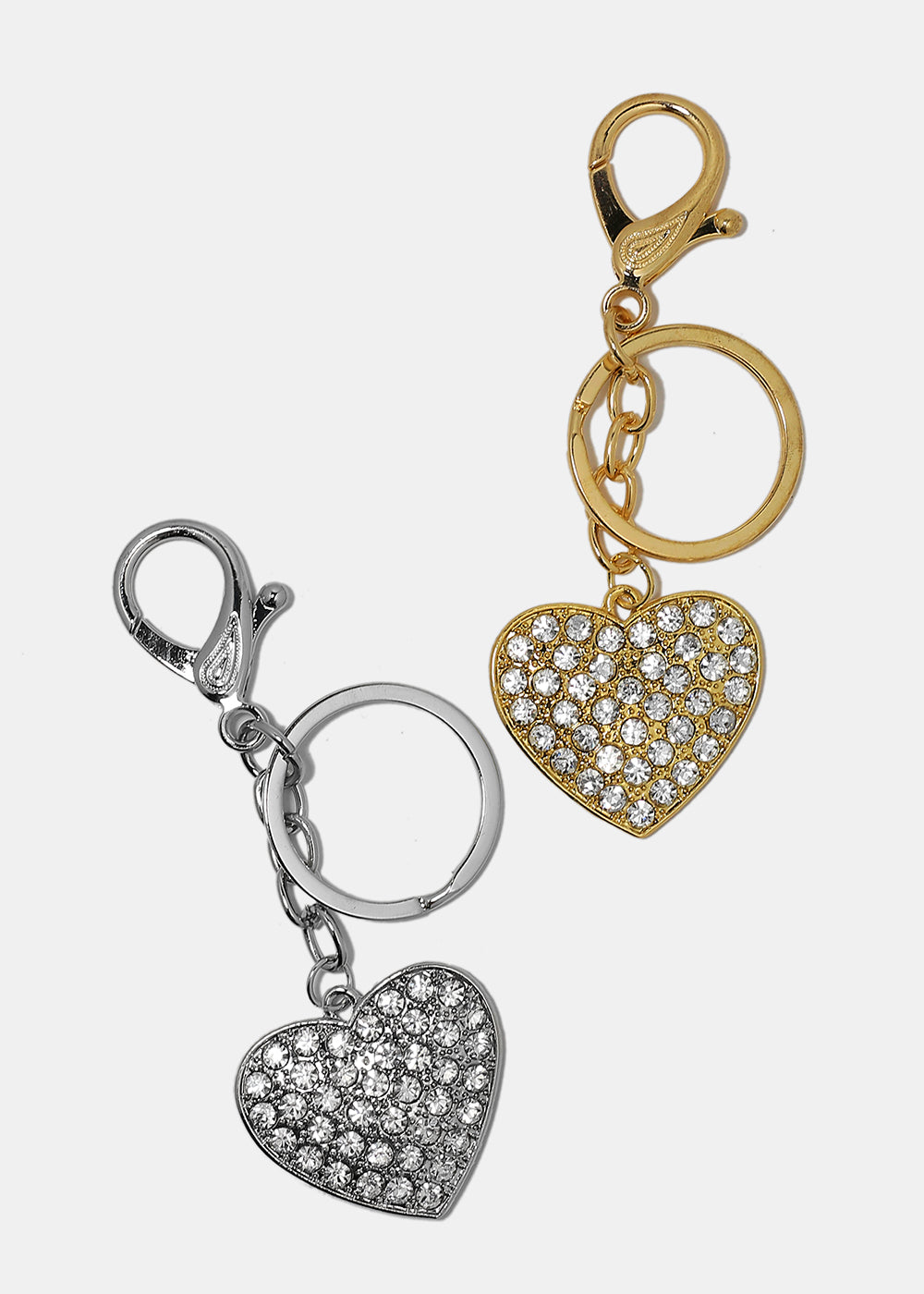 Gemstone Heart Keychain