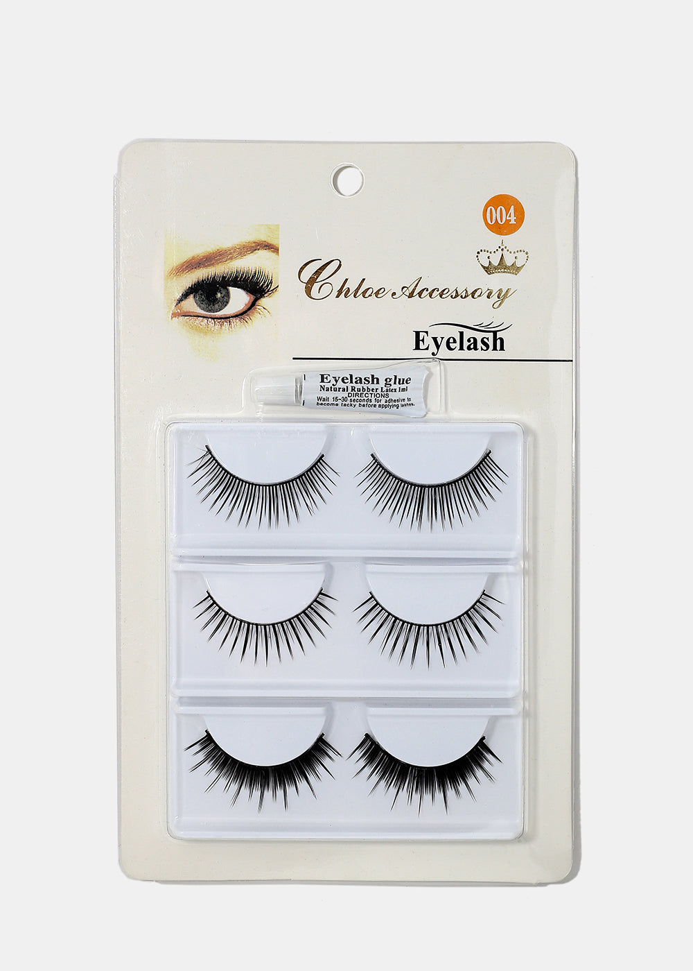 3 Pair Fake Eyelash Kit- 004