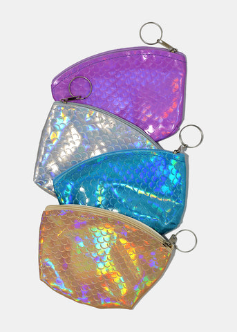 Holographic Scales Rounded Coin Pouch