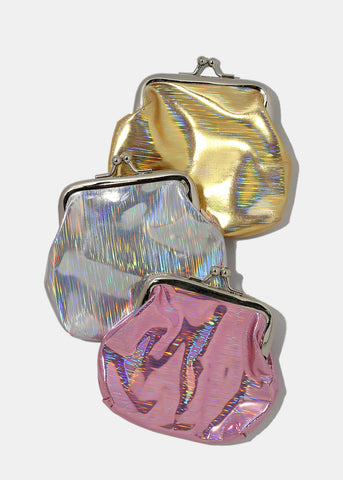 Holographic Kiss-Lock Coin Purse