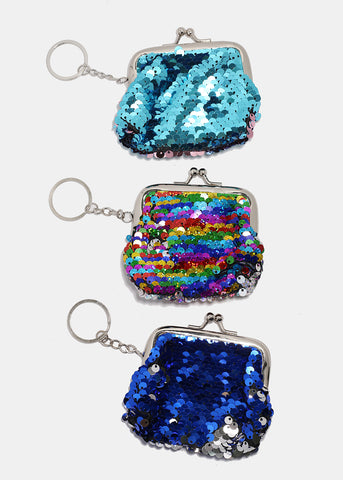 Sequin Coin Purse Keychain