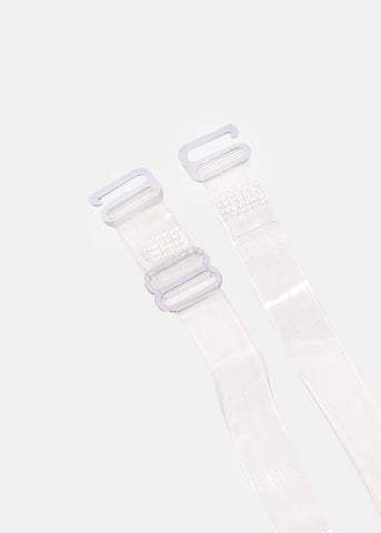2 Pair Clear Bra Straps