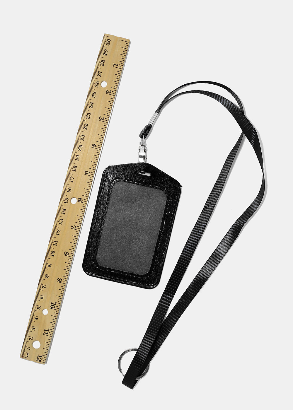 Color Faux Leather ID Lanyard