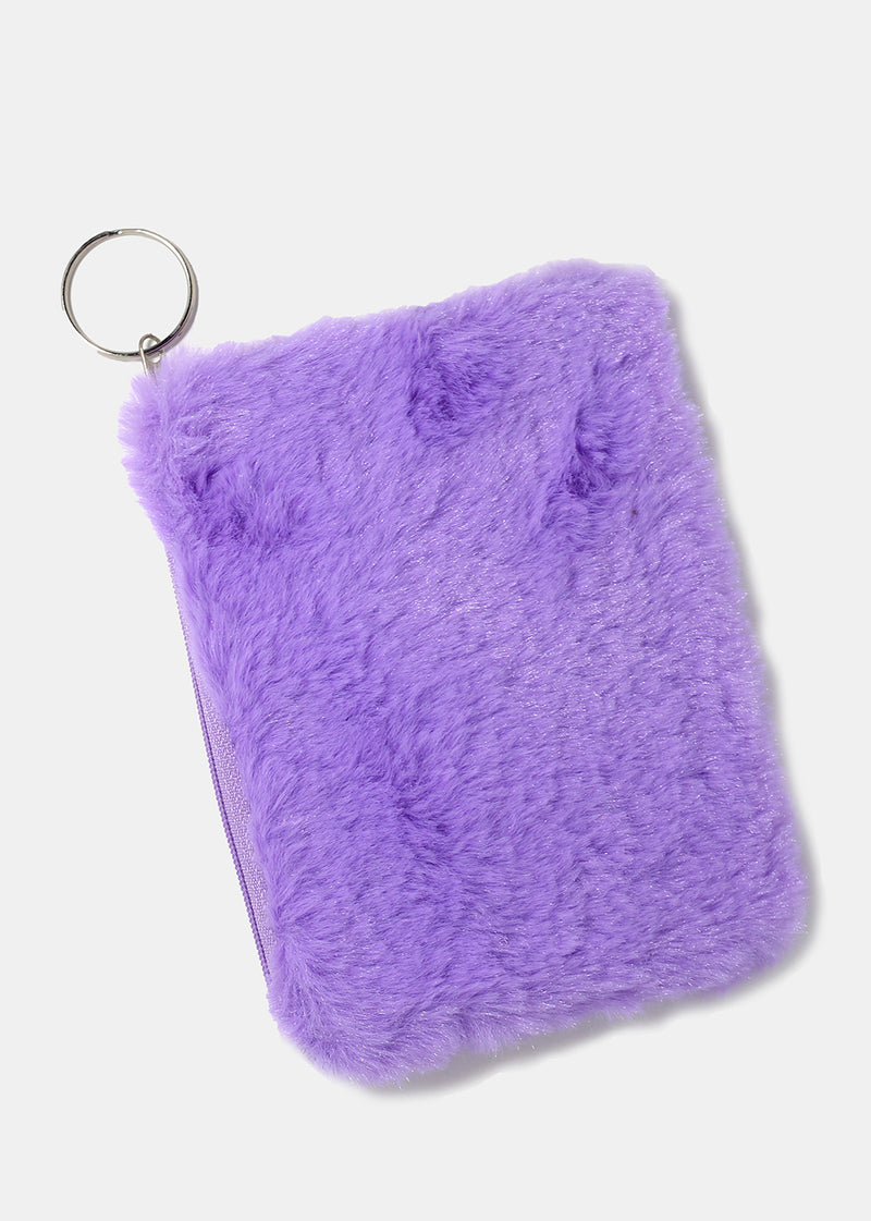 Furry Zippered Pouch