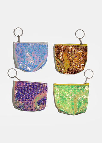 Holographic Zippered Coin Purse