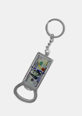 $100 Bill Bottle Opener Keychain