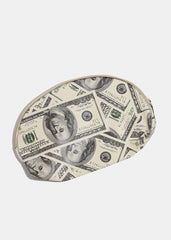 $100 Bill Print Cosmetic Pouch