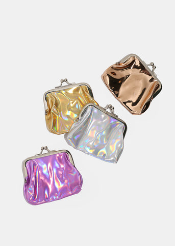 Holographic Kiss Lock Coin Purse