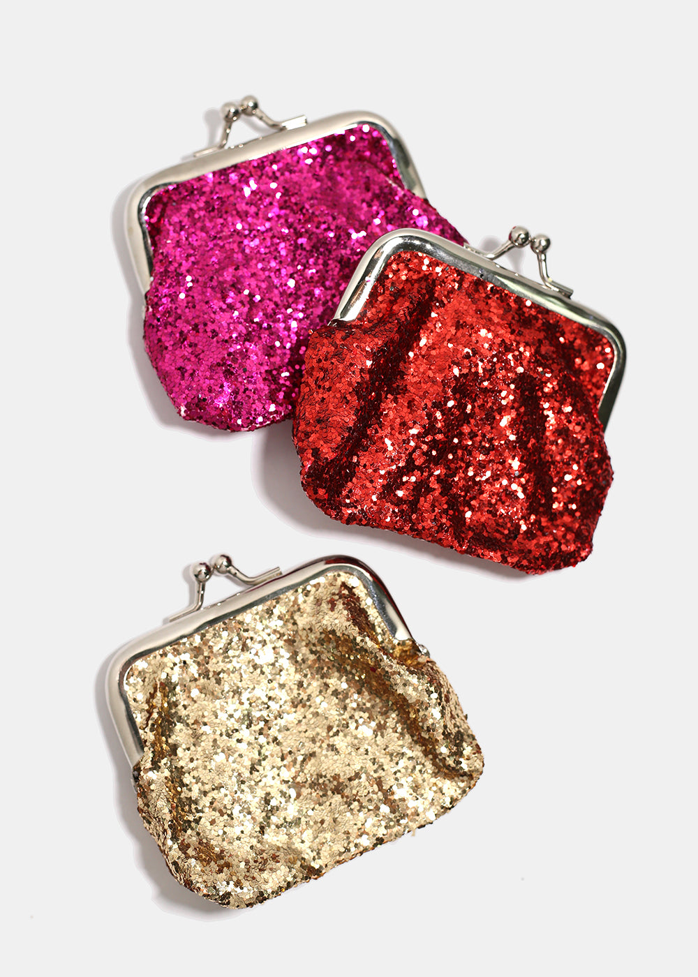 Glitter Kiss-Lock Coin Purse
