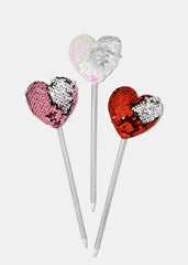 Sequin Heart Topper Pen