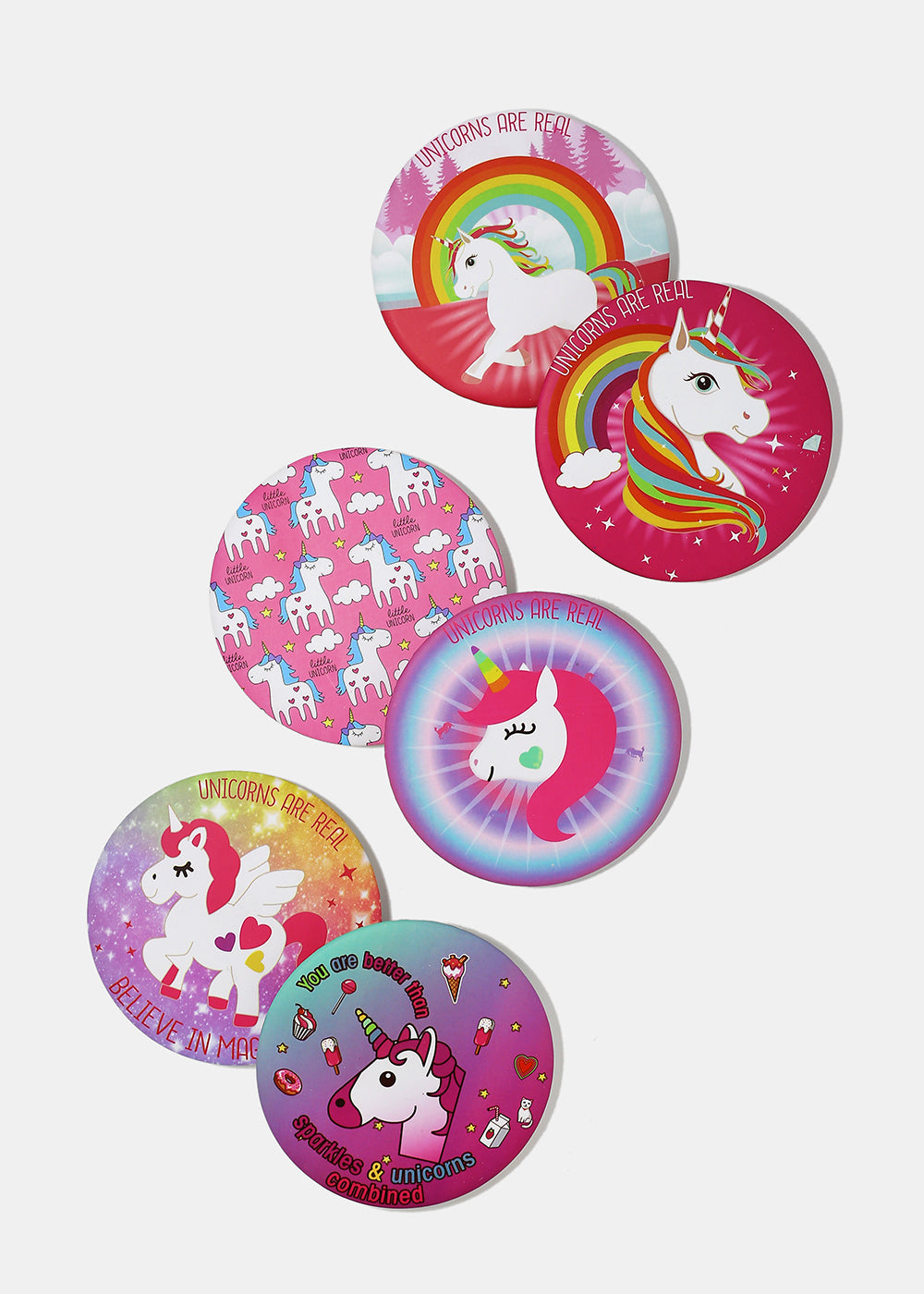 Unicorn Print Travel Mirror