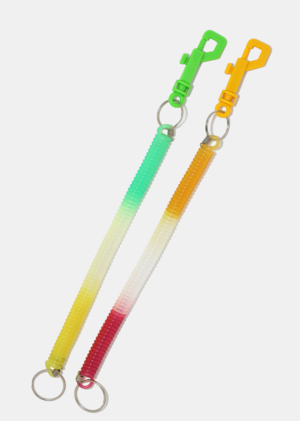 Tri-Color Long Spiral Cord Keychain