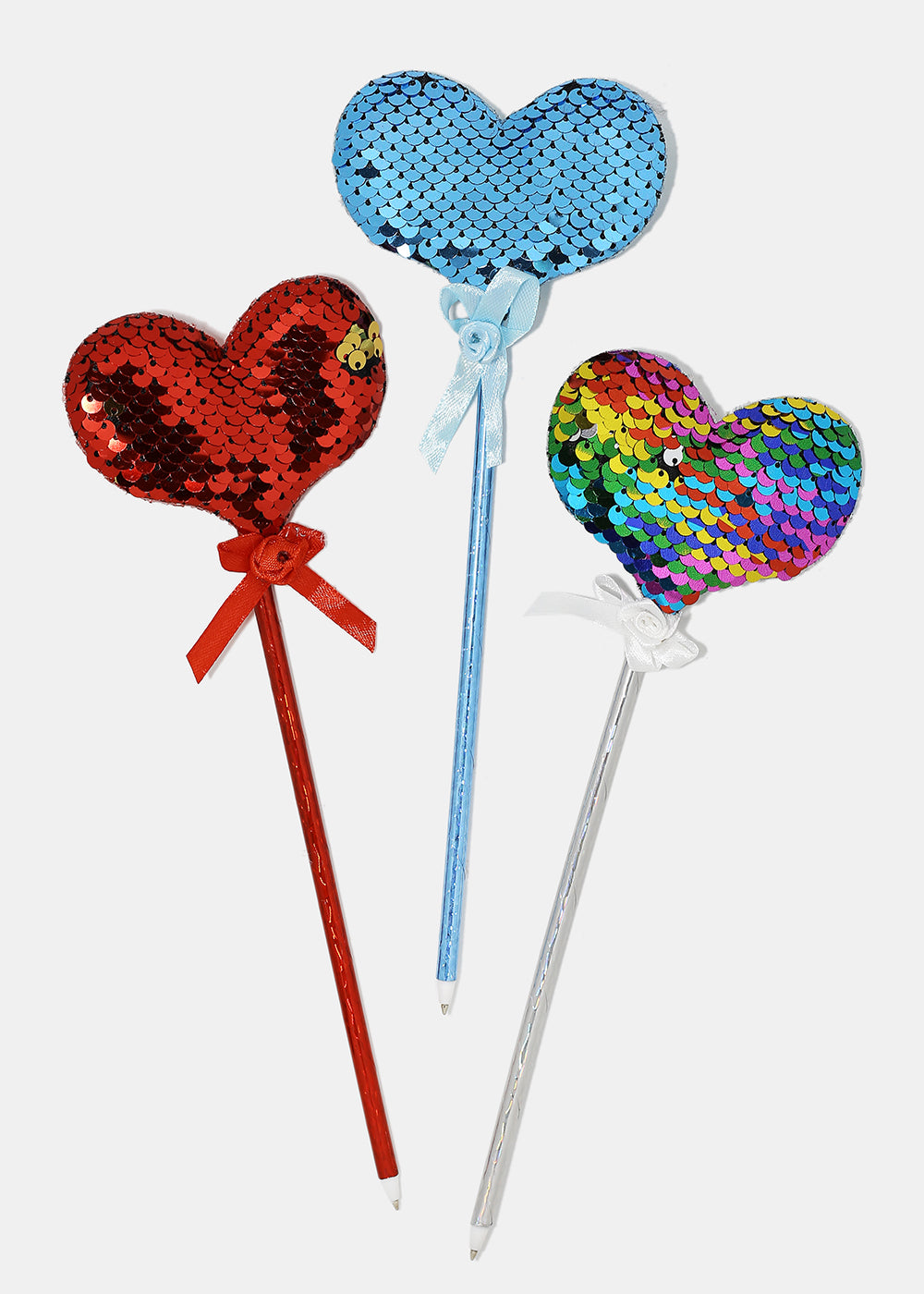 Sequin Heart & Butterfly Pens