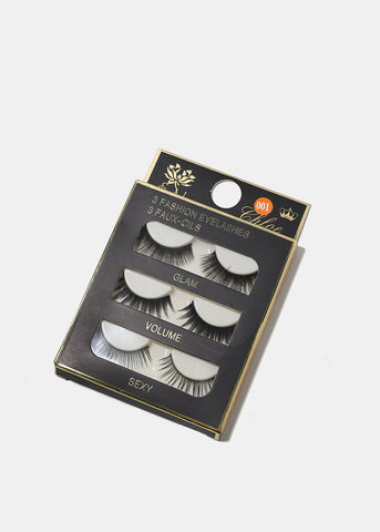 3-Pair Multi Eyelashes Set