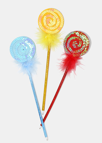 Sequin Lollipop Topper Pen