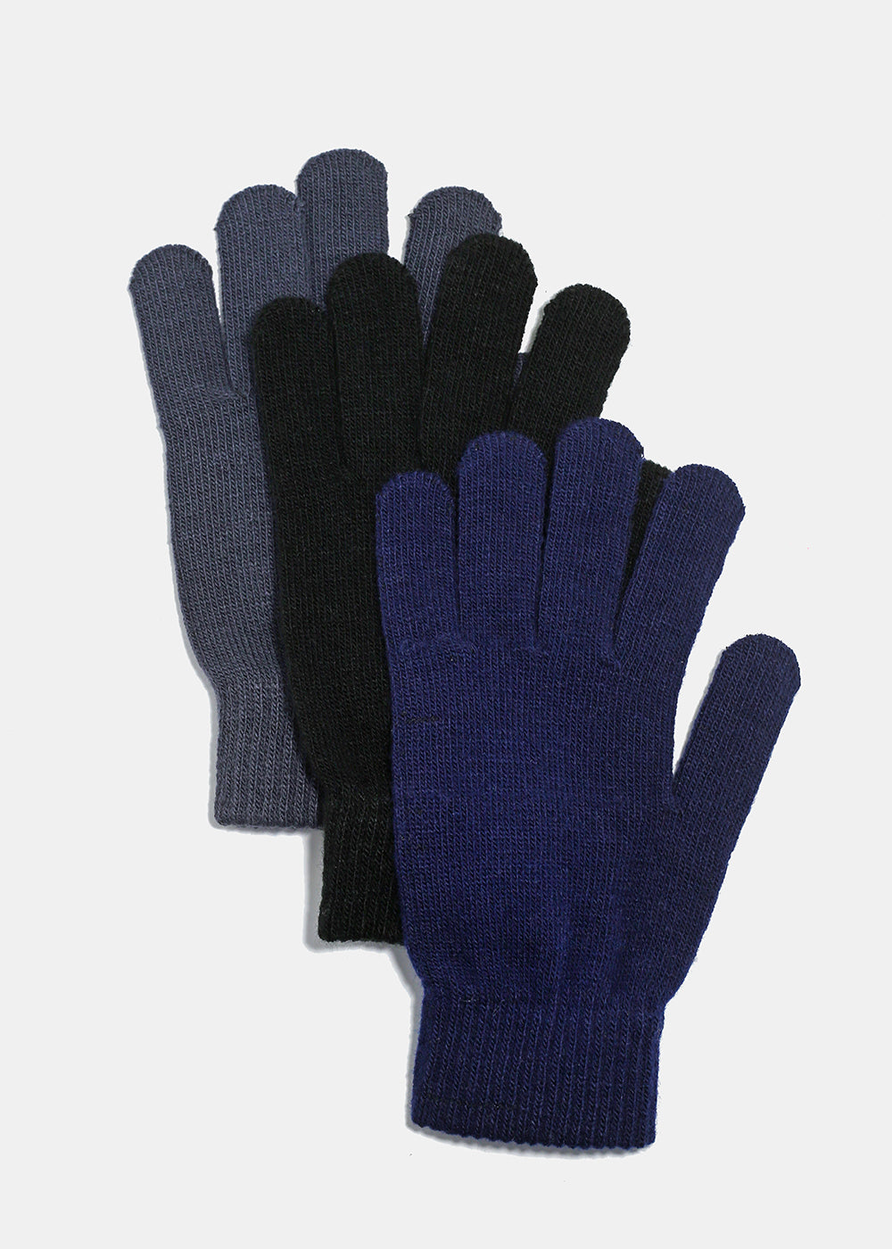Solid Tone Winter Gloves