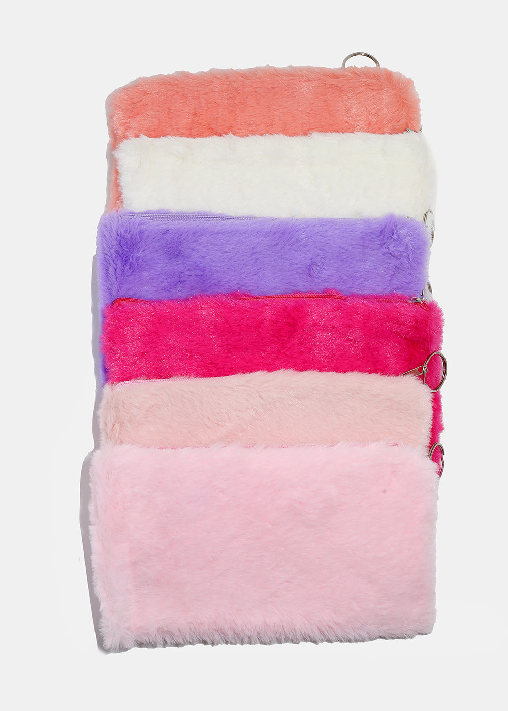 Faux Fur Zippered Pouch
