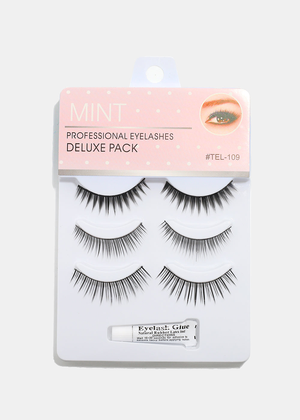 3-Pair Deluxe Eyelashes- 109