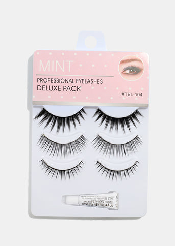 3-Pair Deluxe Eyelashes- 104