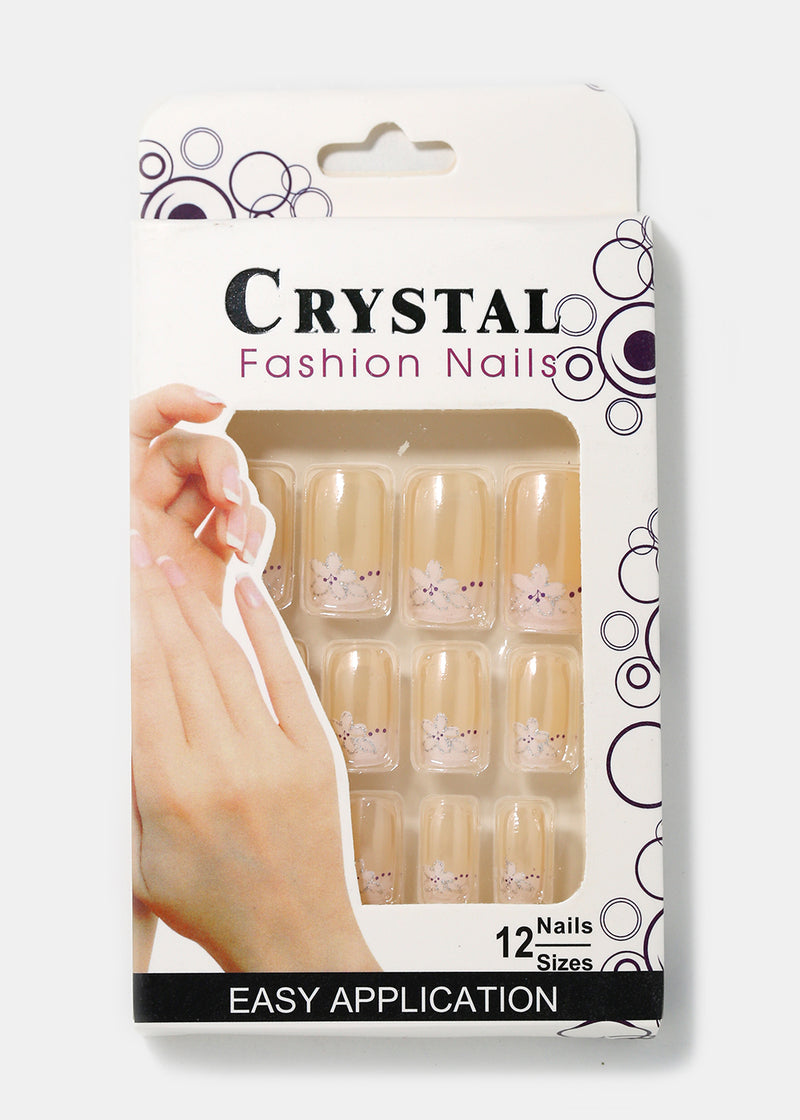 French Tip Square Press-On Nails