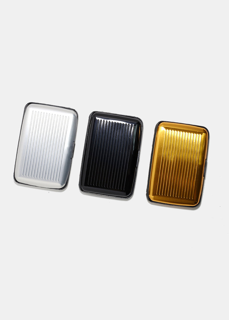 Metallic Hardcover Card Case