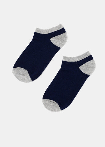 Two-Tone Low Cut Socks