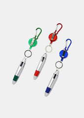 Multi Ink Color Pen Keychain