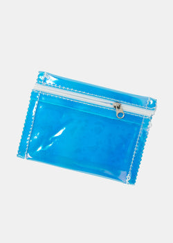 Metallic Vinyl Zippered Pouch