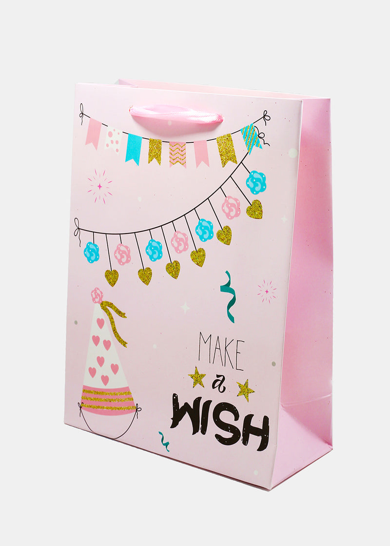 Birthday Glitter Design Gift Bags