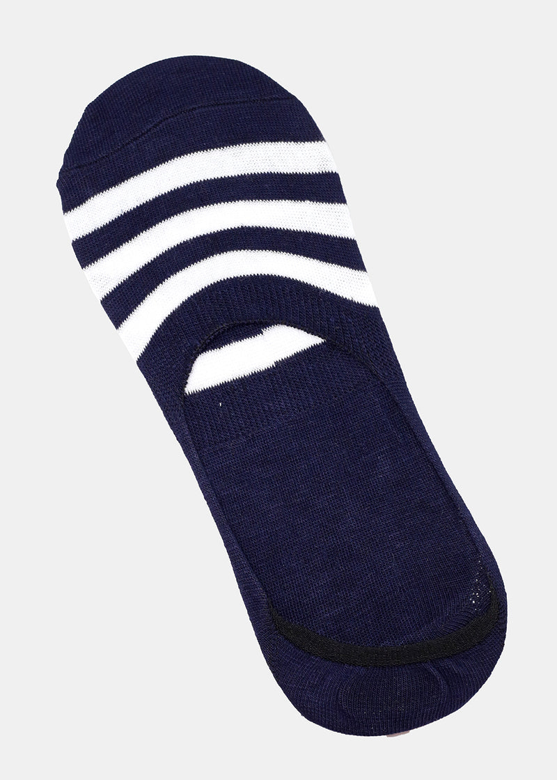 Men's Striped No-Show Socks