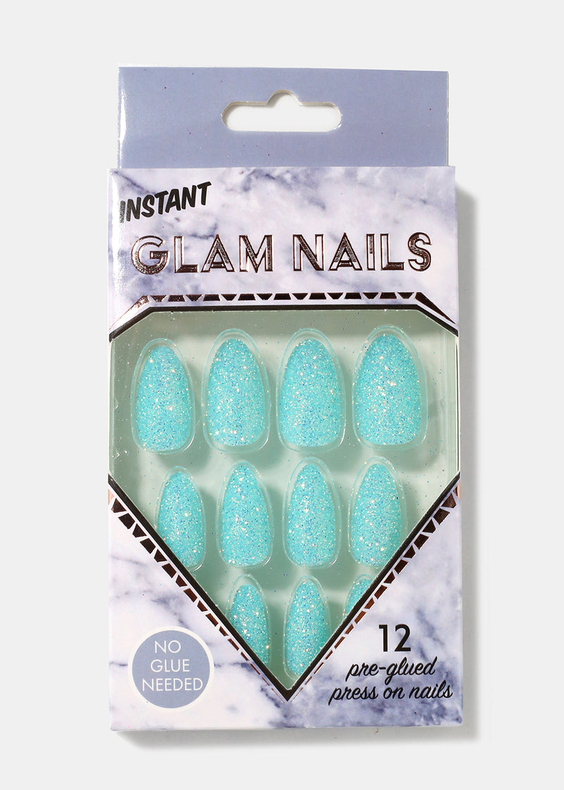 Glitter Almond-Shape Press-On Nails