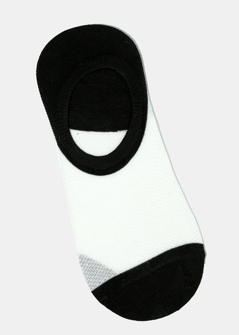 Men's Two Tone No-Show Socks
